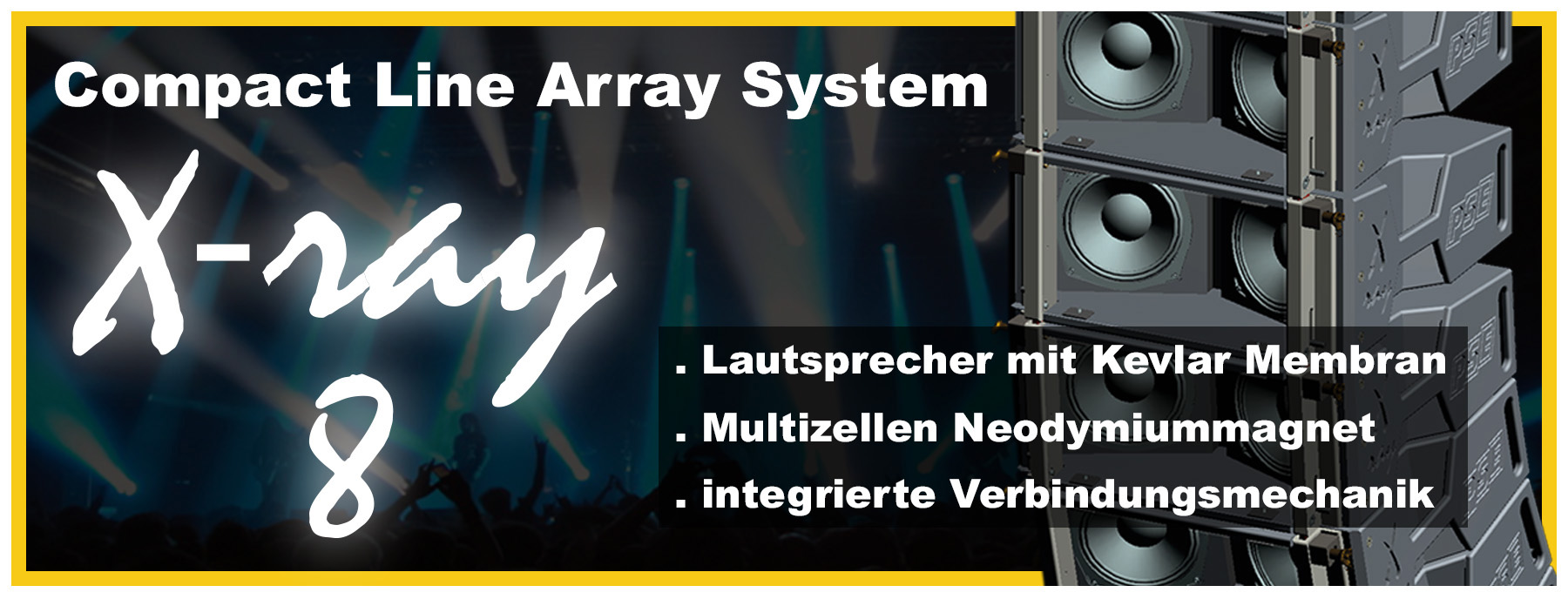 X-ray - compact Line Array Premiere - prolight+sound 2017 Frankfurt